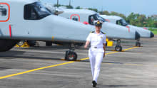 Indian Navy welcomes first woman pilot