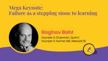 Mega keynote: Failure as a stepping stone to learning