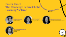 The challenge before CLOs: Learning vs. time