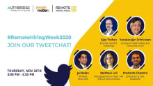 Live Tweetchat: Remote Hiring Week 2020