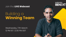 Learn to be the next builder of winning teams in Ankur Warikoo Masterclass