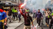 Anti-vaxx riots force Melbourne construction sites closure