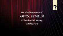 Are You In The List- The Journey In One Word