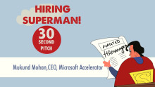 Video Talks: The 30 second pitch for hiring Superman