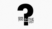 Meet the jury of 'Are You In The List?'