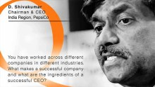 Pepsi's Shivakumar on ingredients of a successful CEO