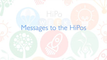 Messages to HiPos from the senior most thought-leaders