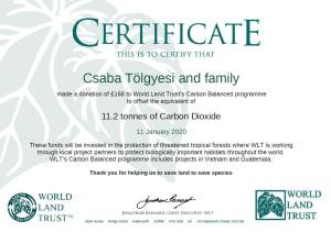 Tölgyesi Csaba és családja | Personal Carbon Offset