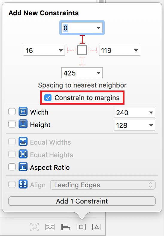 constrain to margins