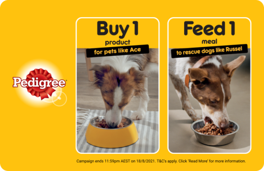 Help feed a rescue pet