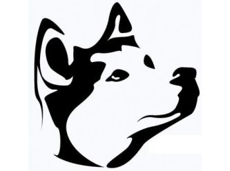 Large dogs heard logo