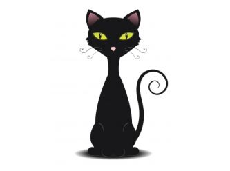 Large cartoon cats black cat 1