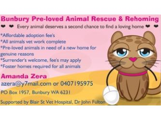Bunbury Pre-loved Animal Rescue and Rehoming