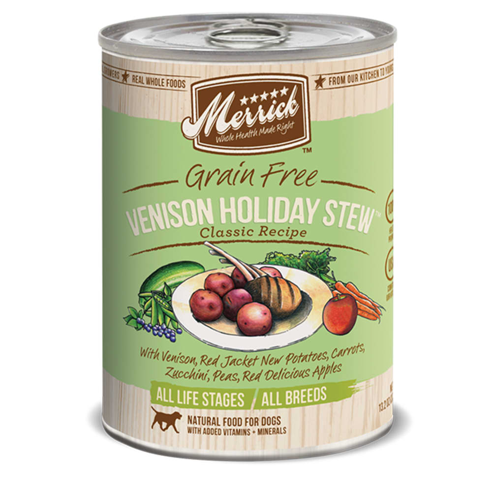 Merrick - Classic Grain-Free Venison Holiday Stew Canned Dog Food, 13.2oz
