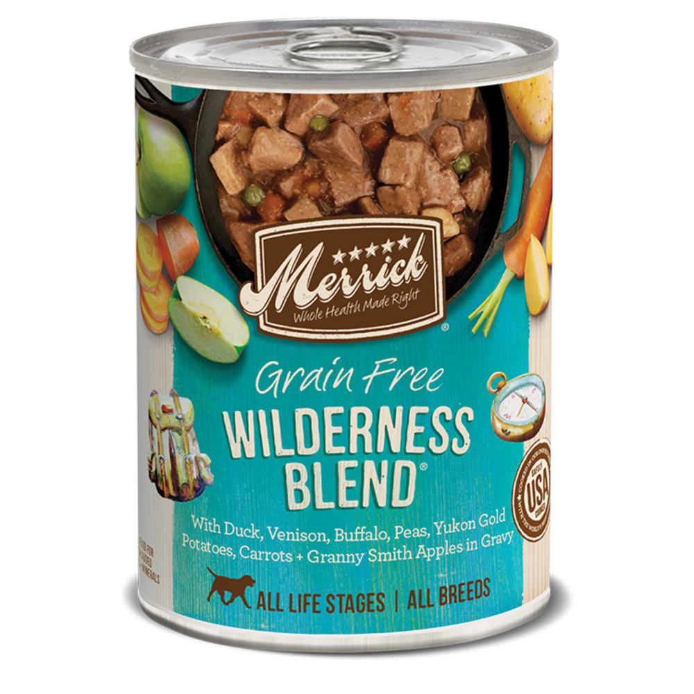 Merrick - Classic Grain-Free Wilderness Blend Recipe Canned Dog Food, 13.2oz