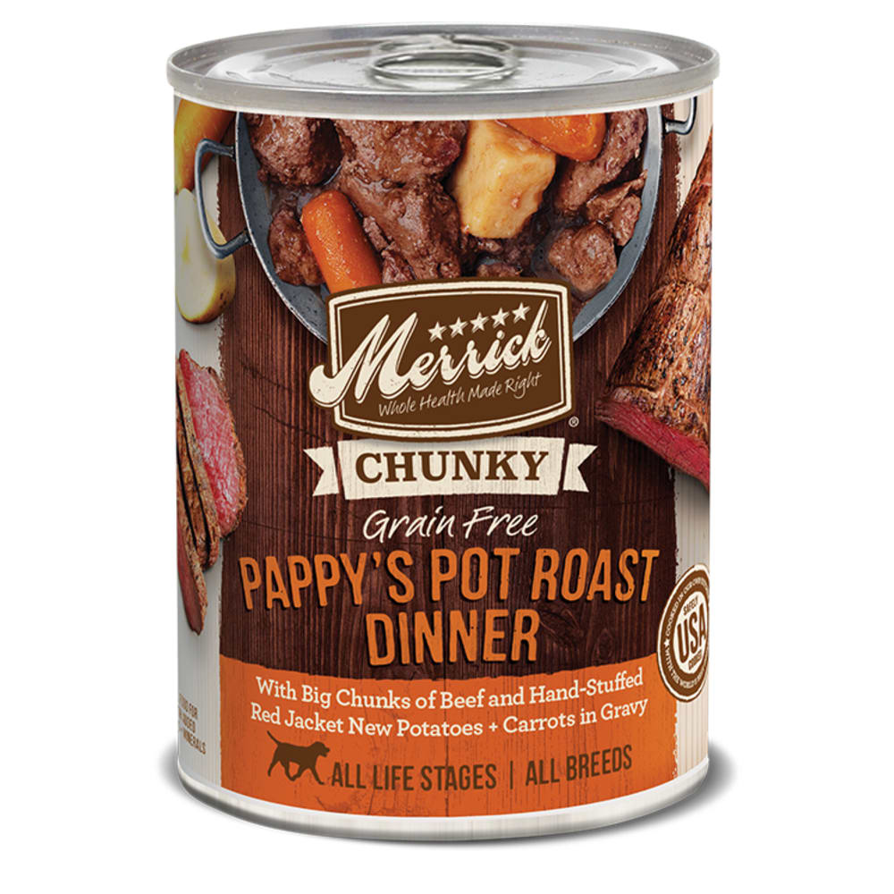 Merrick - Chunky Pappy's Pot Roast Dinner Grain-Free Canned Dog Food, 12.7oz