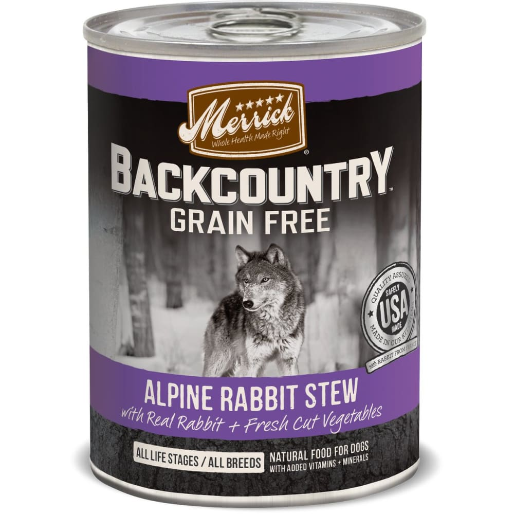 Merrick - Backcountry Alpine Rabbit Stew Grain-Free Canned Dog Food