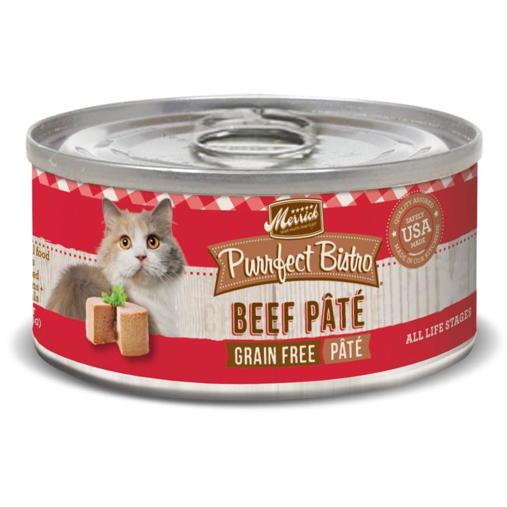 Merrick - Purrfect Bistro Beef Pate Grain-Free Canned Cat Food