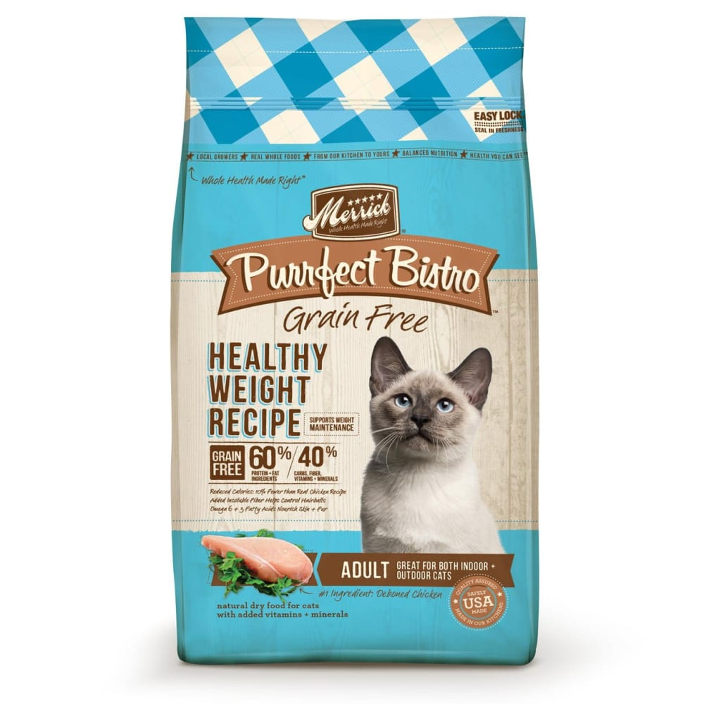 Merrick - Purrfect Bistro Healthy Weight Recipe Grain-Free Dry Cat Food, 4lb