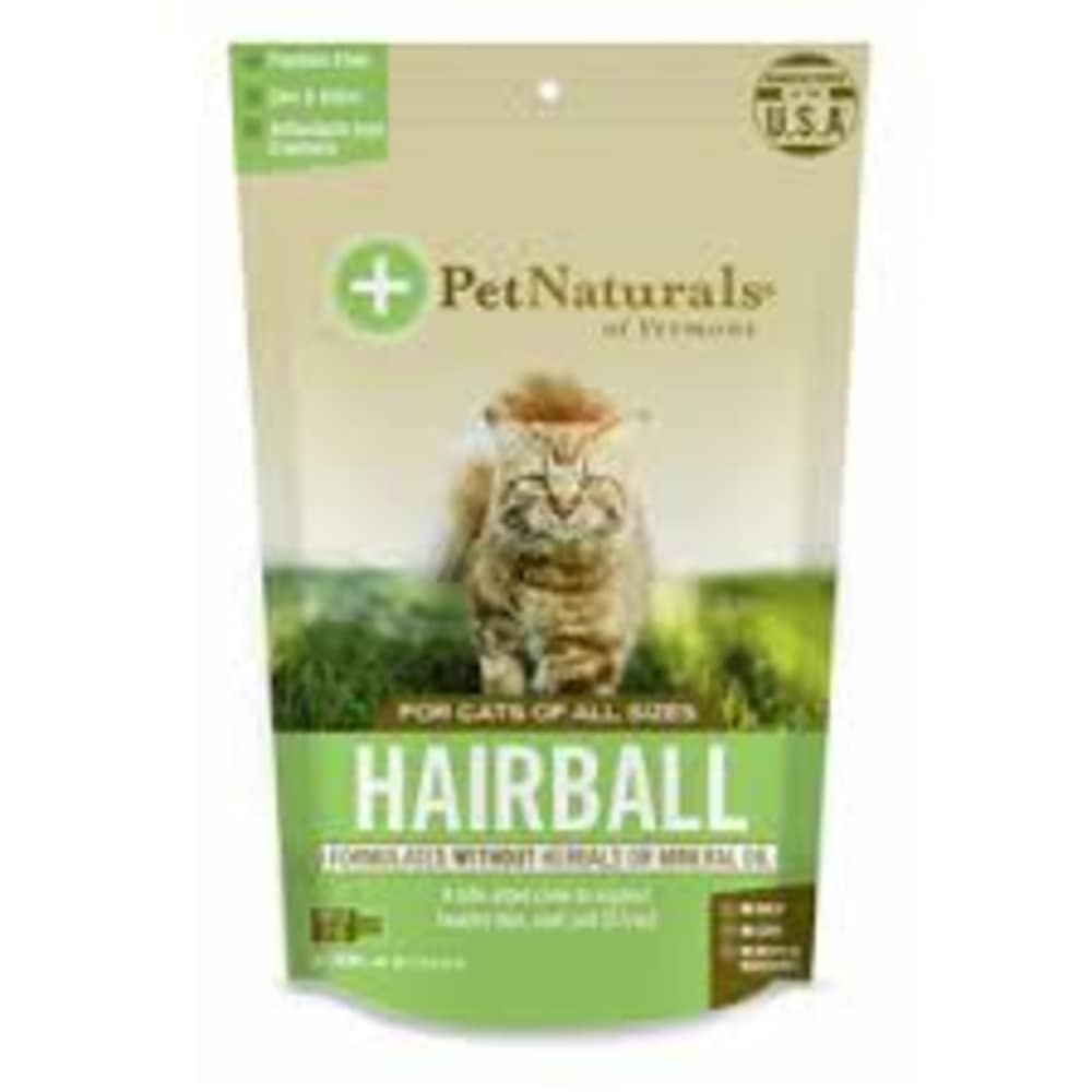 Pet Naturals - Hairball Chew Without Herbals Or Mineral Oil 30 Count For All Cat Sizes Pet Supplement, 1.59oz