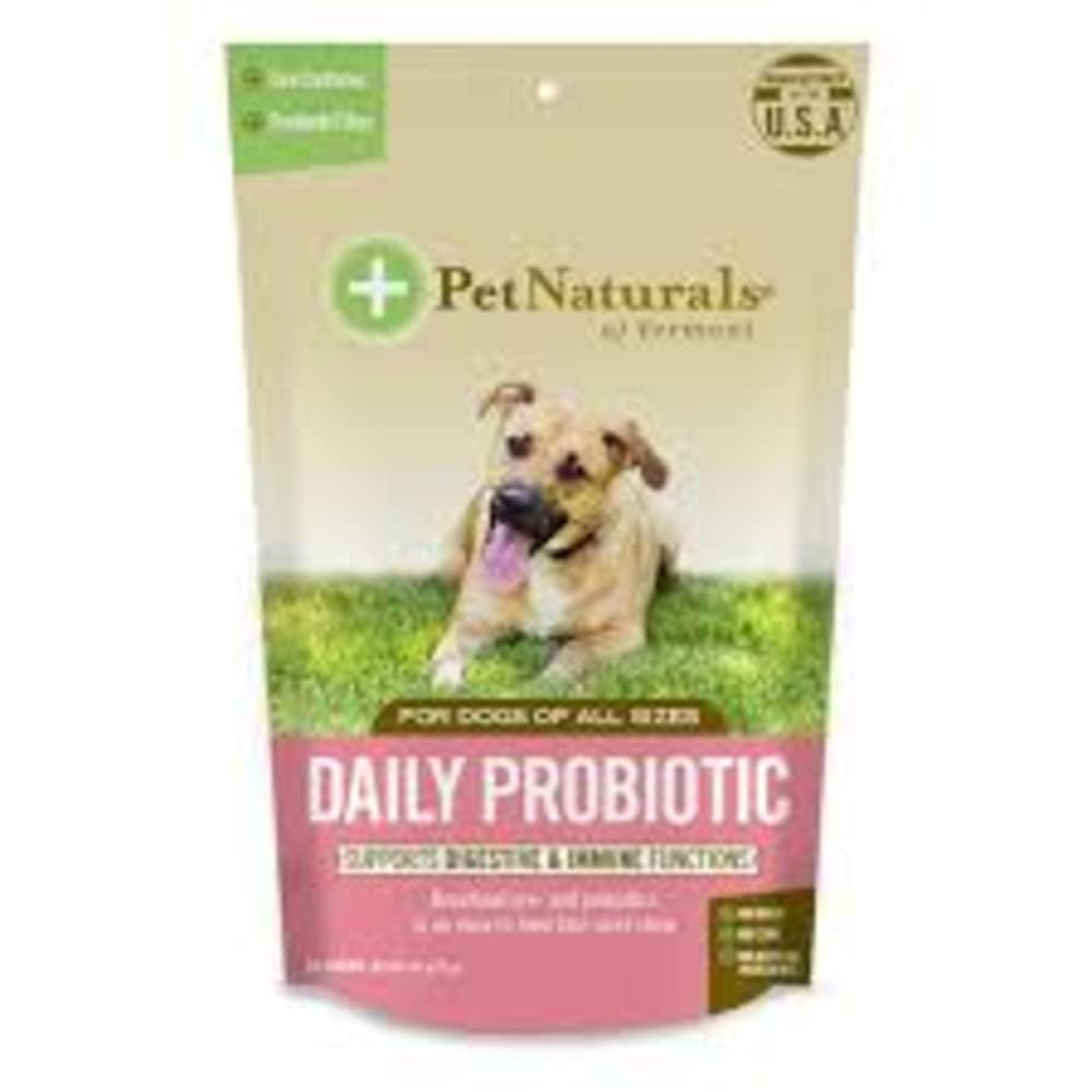 Pet Naturals - Daily Probiotic For Digestion & Immune Functions 60 Count For All Dog Sizes Pet Supplement, 2.54oz