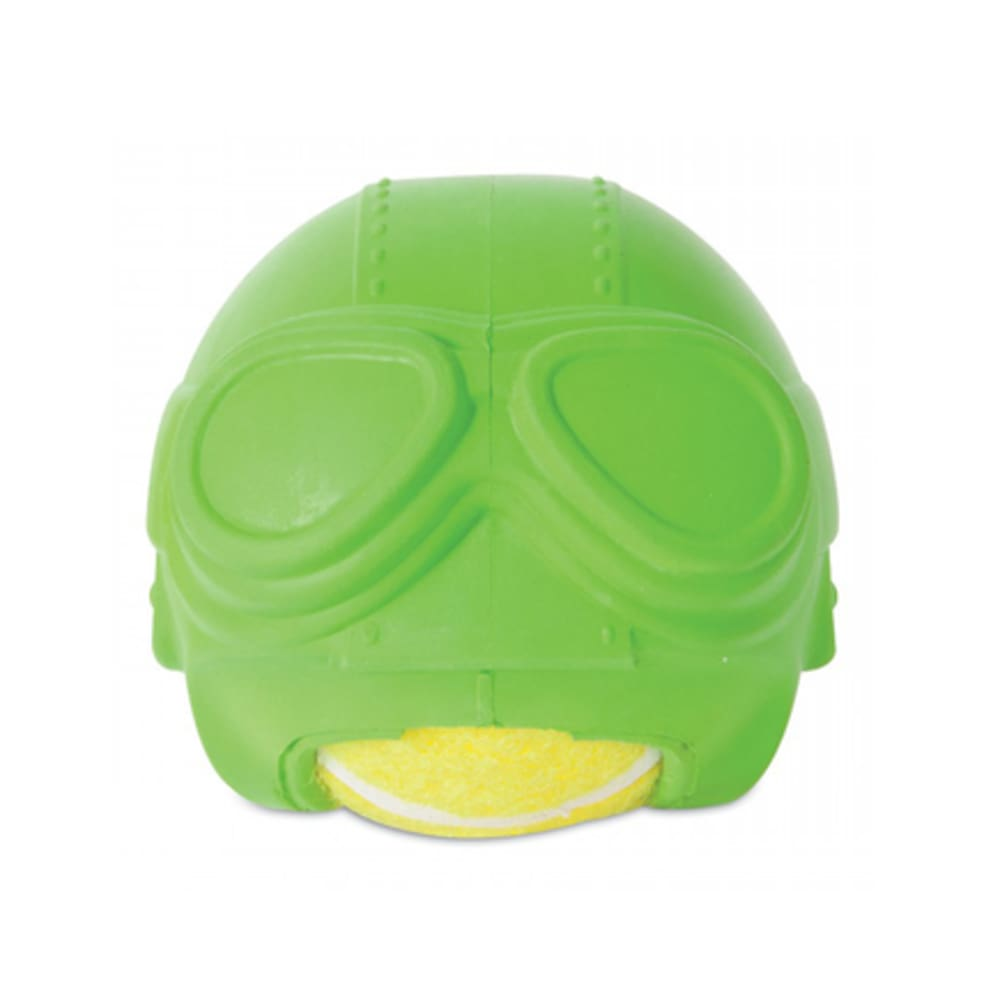 JW - Helmet Head Aviator Green Dog Toy