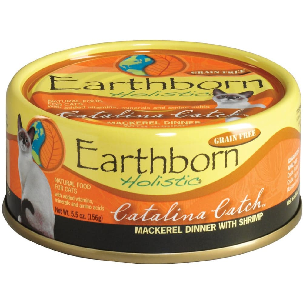 Earthborn - Catalina Catch Mackerel Dinner With Shrimp In Gravy Grain-Free Canned Cat Food