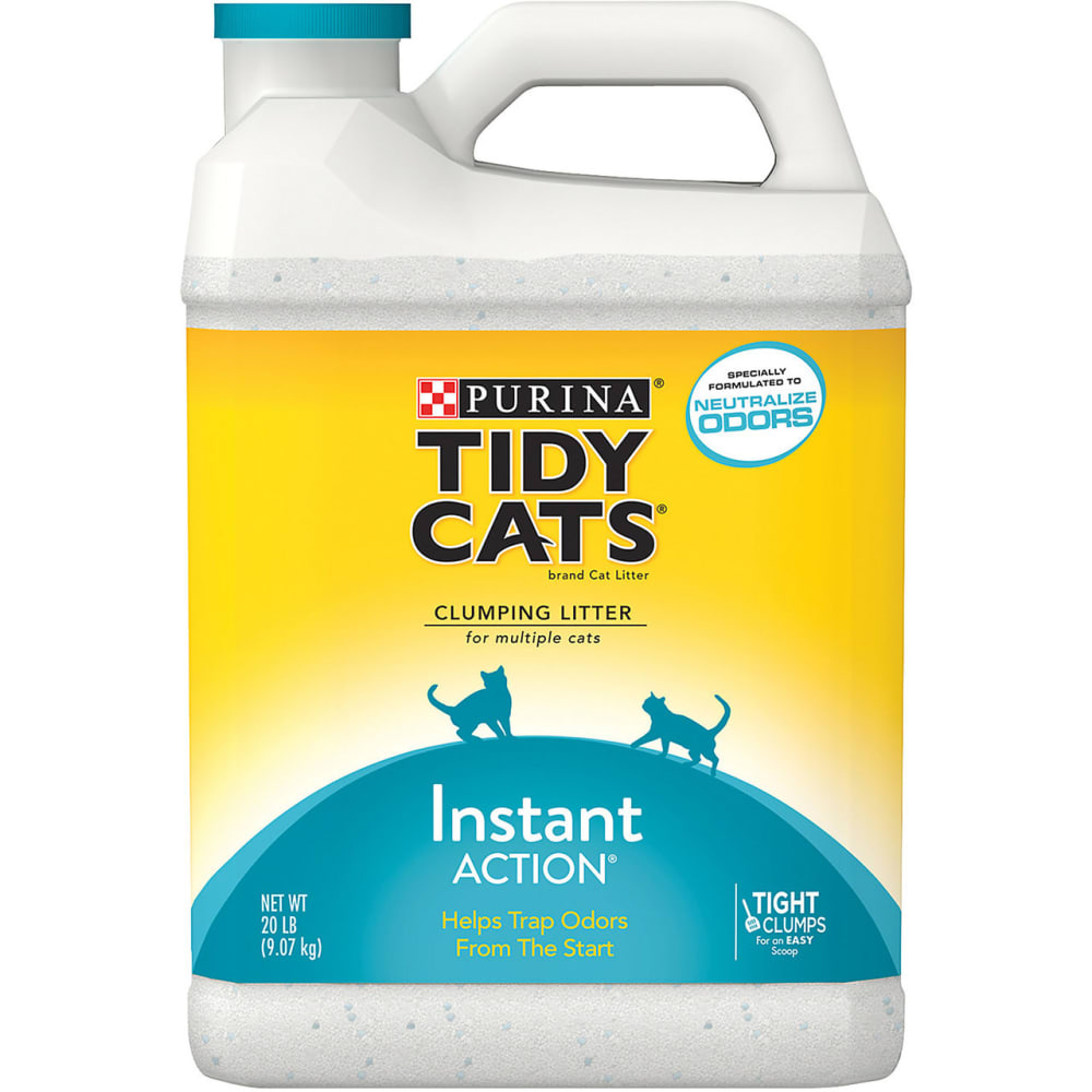 Tidy Cat - Instant Action Immediate Odor Control Cat Litter, 20lb