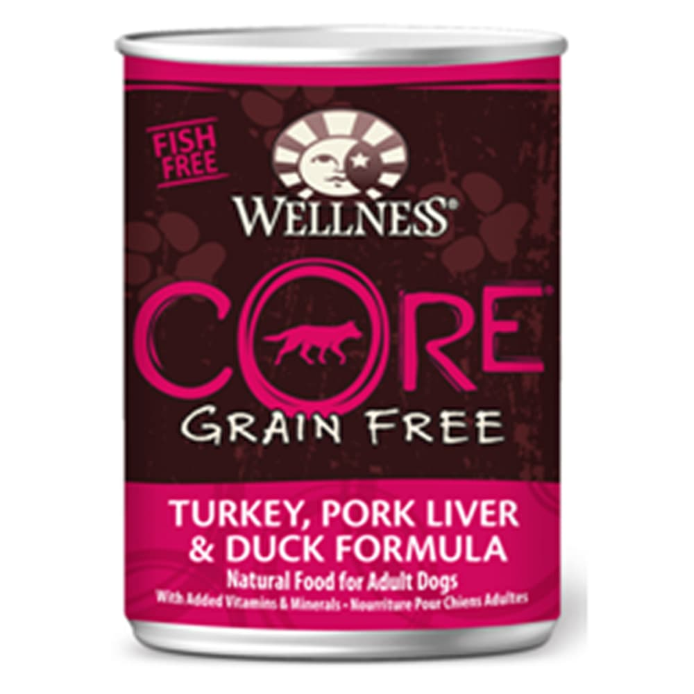 Wellness - CORE Turkey, Pork Liver & Duck Formula Grain-Free Canned Dog Food, 12.5oz
