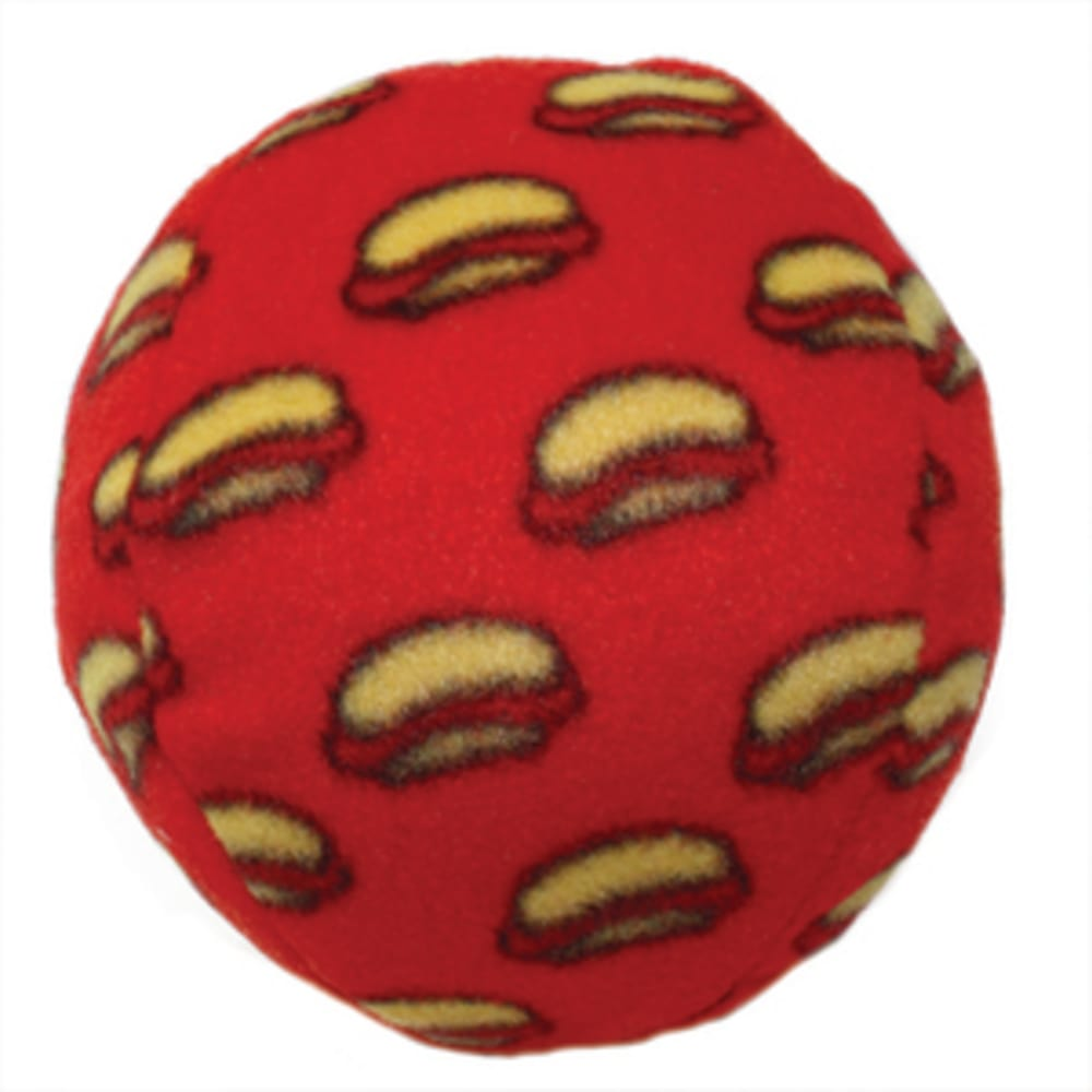 VIP Products - Mighty Balls Fleece-Covered Red Ball Dog Toy, 4in