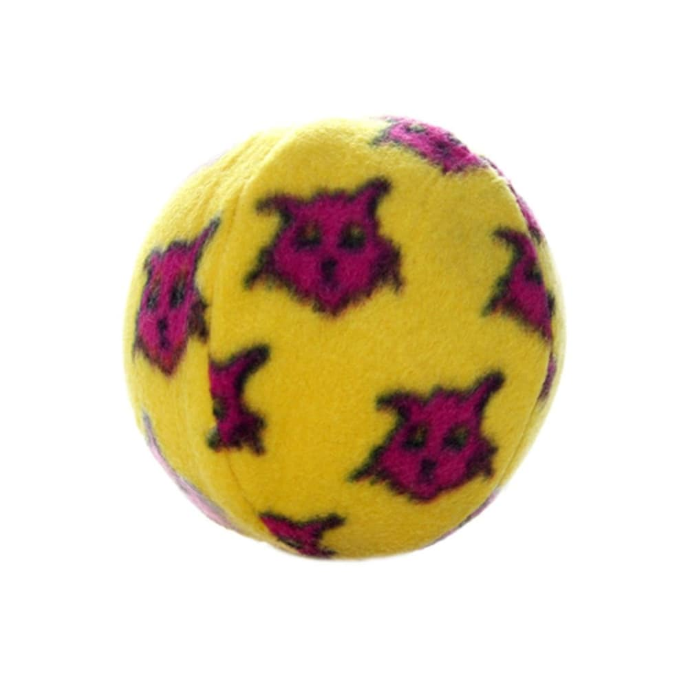 VIP Products - Mighty Balls Fleece-Covered Yellow Ball Dog Toy, 4in