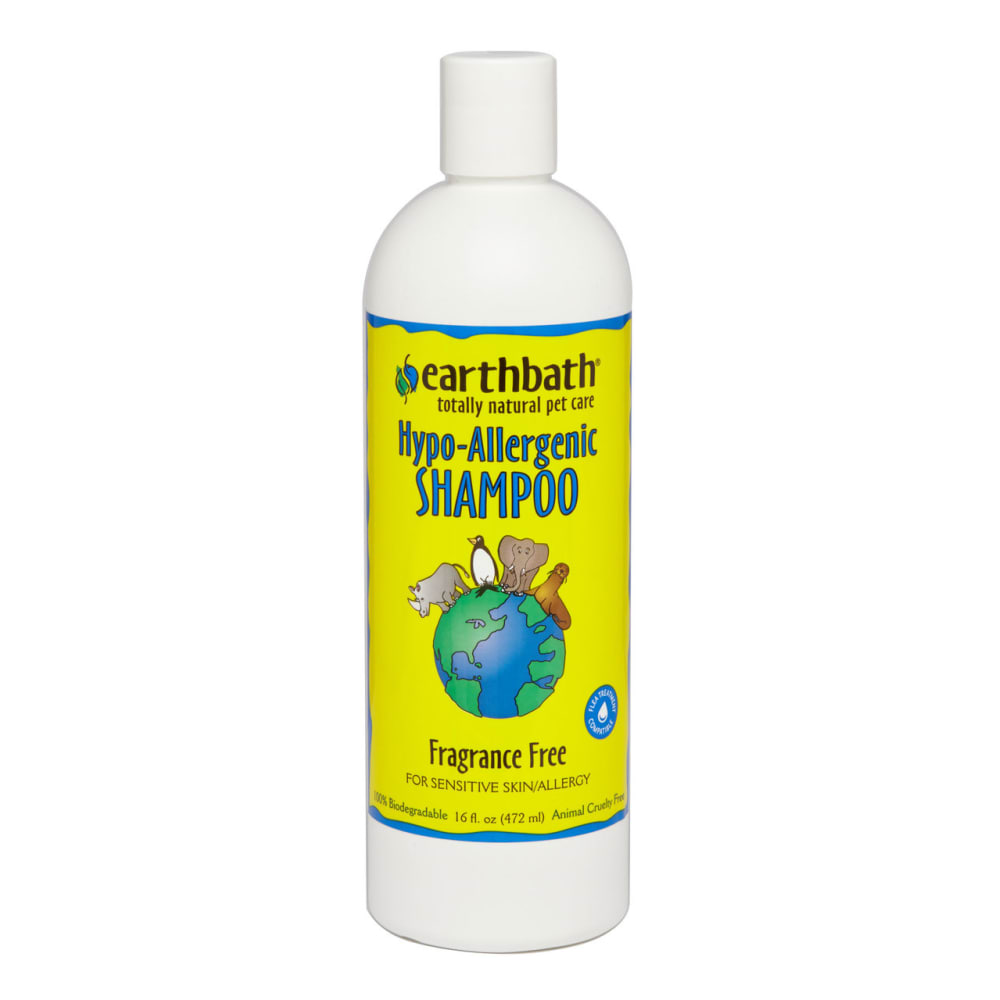 Earthbath - 100% Biodegradable Hypo-Allergenic Fragrance Free Pet Shampoo, 16oz