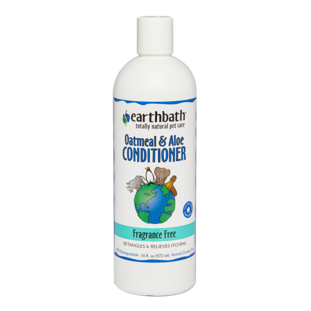 Earthbath - 100% Biodegradable Oatmeal & Aloe Fragrance Free Detangling & Itch Relief Pet Conditioner, 16oz