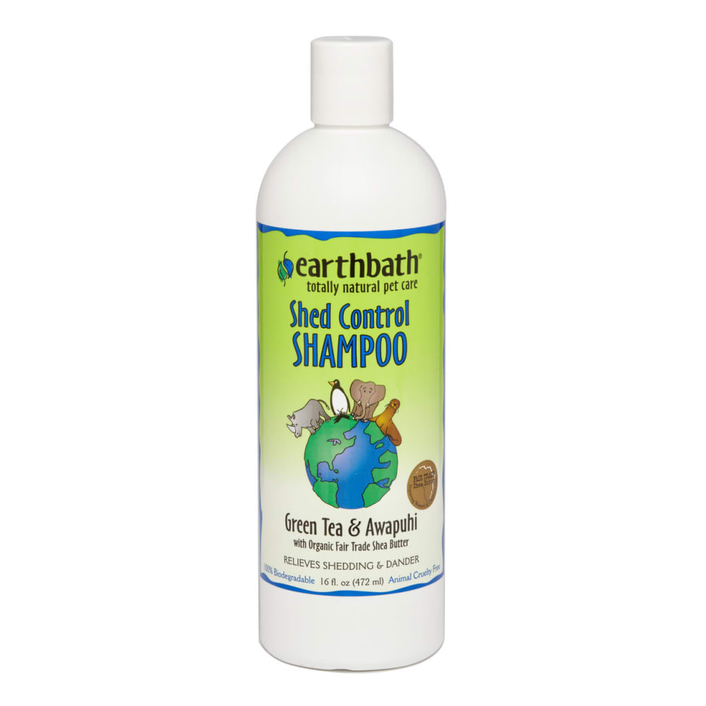 Earthbath - 100% Biodegradable Shed Control Green Tea & Awapuhi With Shea Butter Pet Shampoo, 161oz