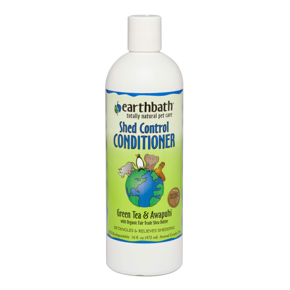 Earthbath - 100% Biodegradable Shed Control Green Tea & Awapuhi With Shea Butter Pet Conditioner, 16oz