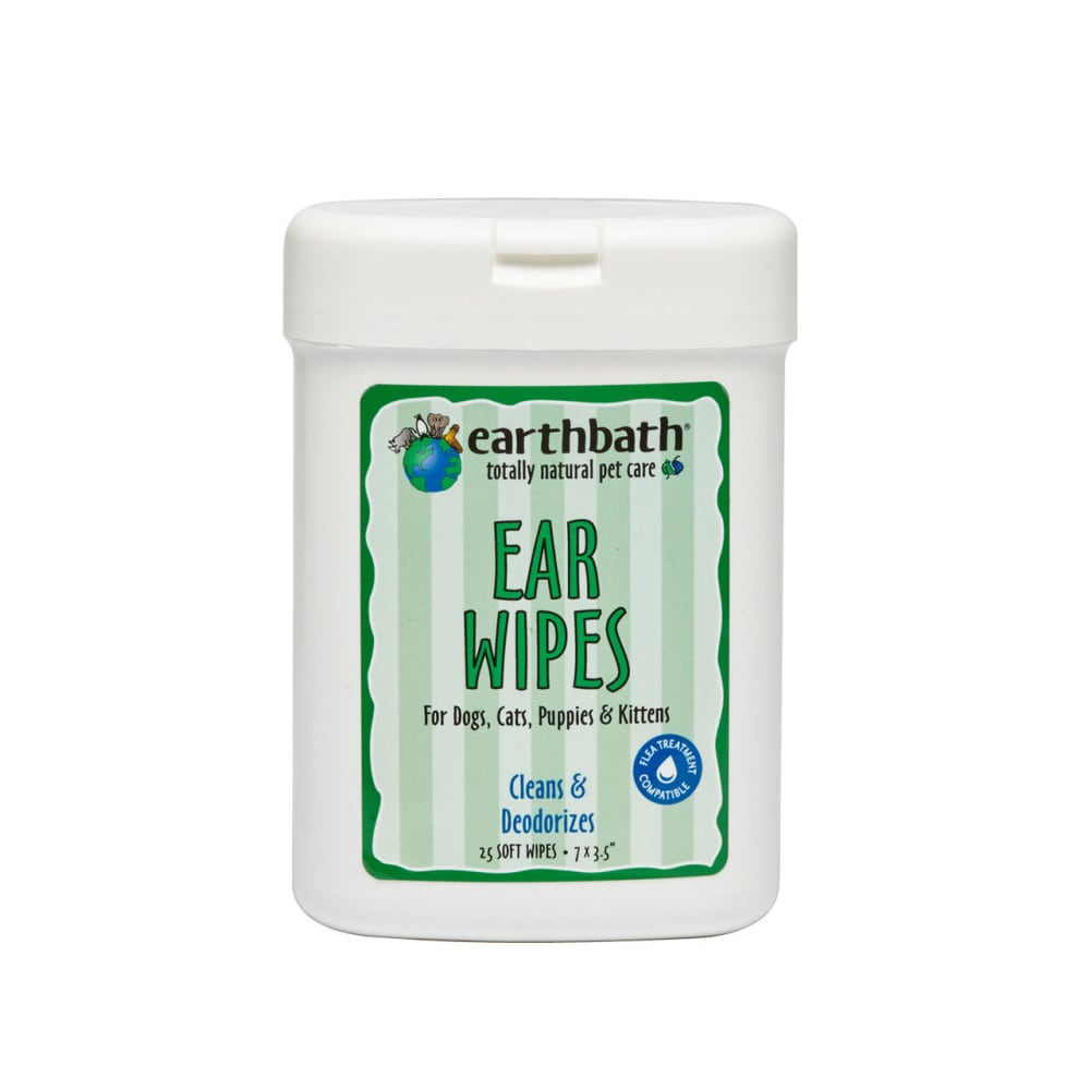Earthbath - Cleaning & Deodorizing Ear Wipes, 25 Count