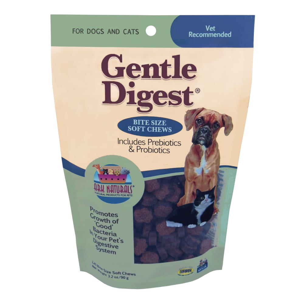 Ark Naturals - Gentle Digest Soft Chews With Prebiotics & Probiotics Natural Dog Supplement, 3.2oz