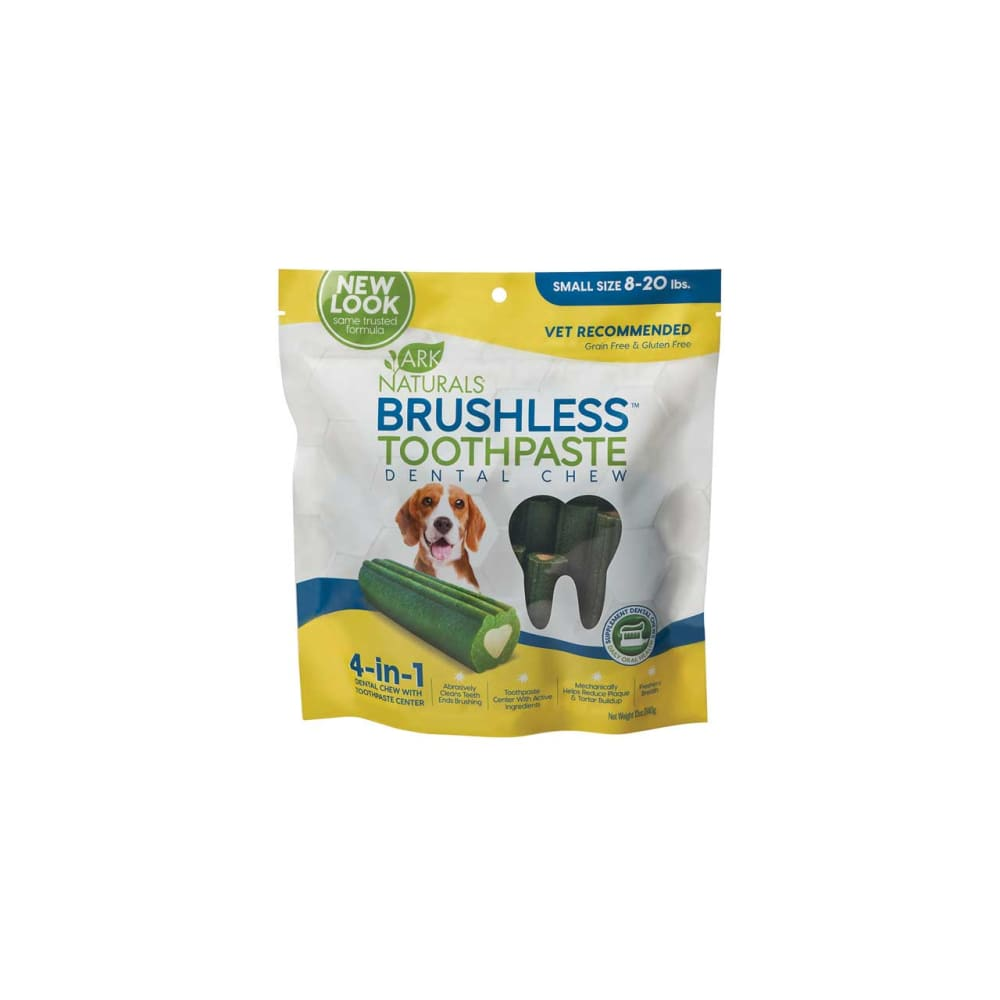 Ark Naturals - Breath-Less Brushless-ToothPaste For Small-Medium Dogs Dental Chew, 12oz