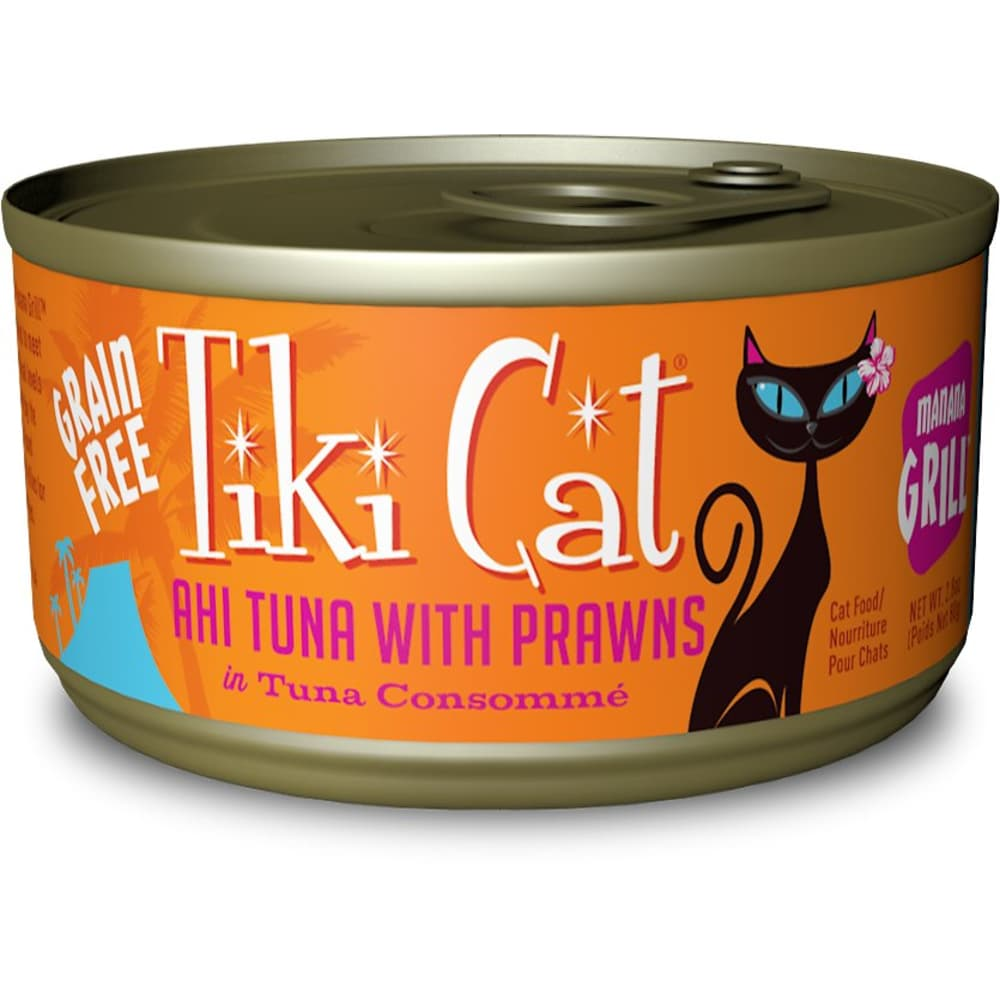 Tiki Cat - Manana Grill Ahi Tuna With Prawns In Tuna Consomme Grain-Free Canned Cat Food