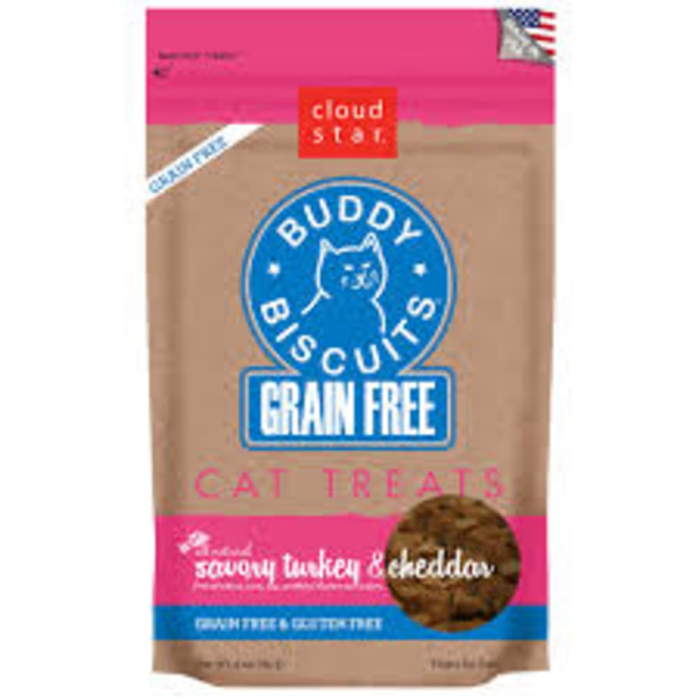 Cloud Star - Savory Turkey & Cheddar Grain-Free Cat Treats, 3oz