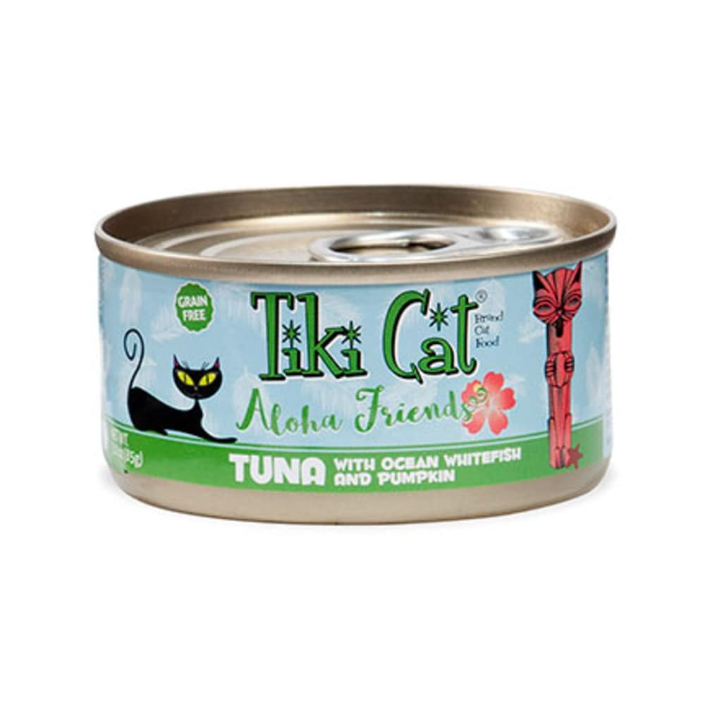Tiki Cat - Aloha Friends Tuna With Ocean Whitefish & Pumpkin Grain-Free Canned Cat Food