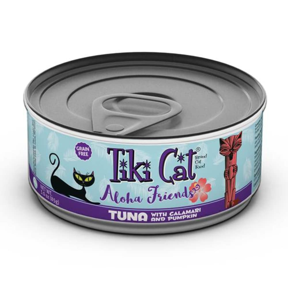 Tiki Cat - Aloha Friends Tuna With Calamari & Pumpkin Grain-Free Canned Cat Food