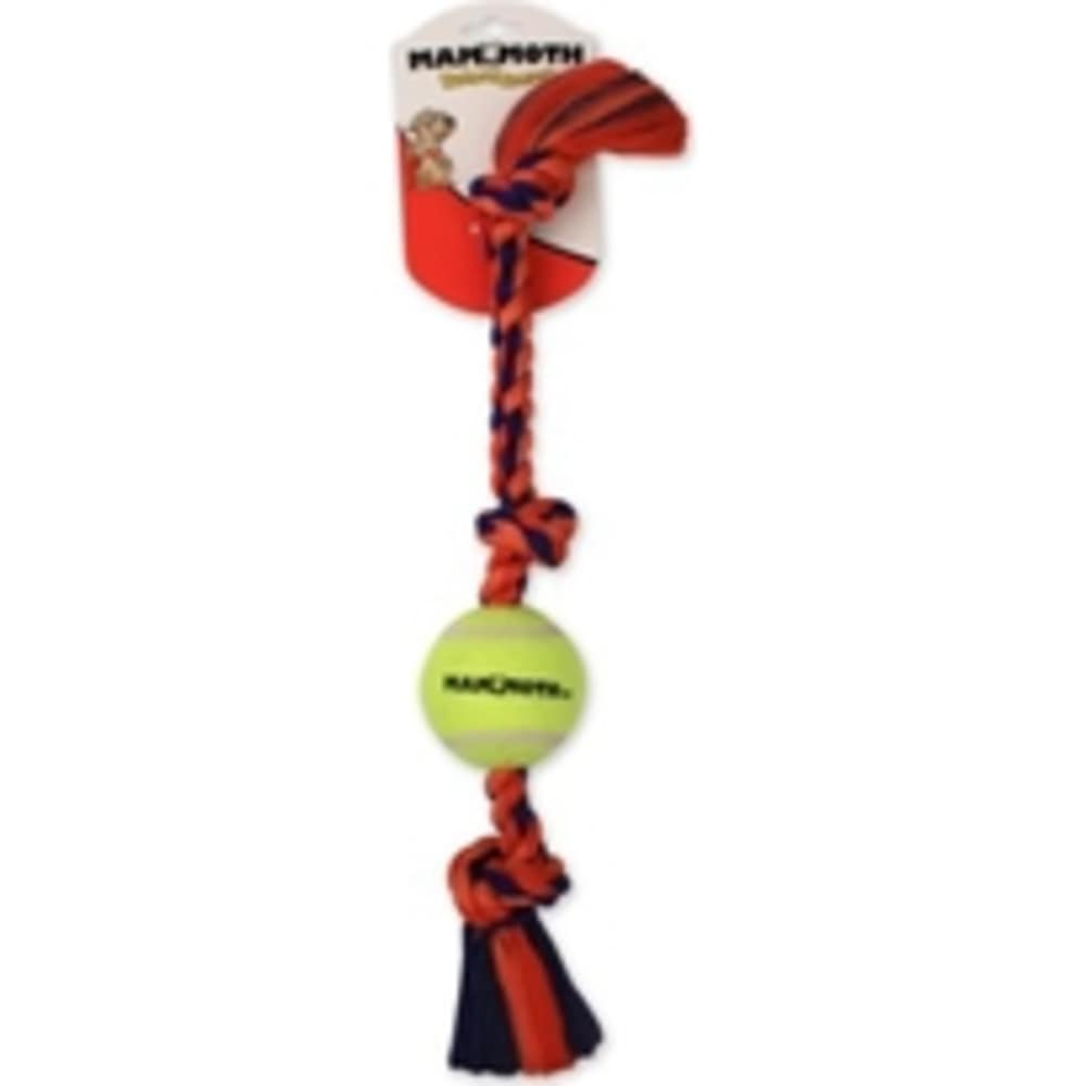 Mammoth - Flossy Chews Braidys Tug With Ball Small Dog Toy