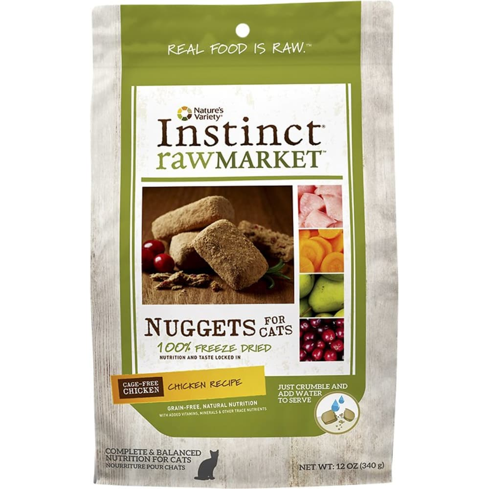 Nature's Variety - Instinct RawMarket Chicken Recipe Grain-Free Freeze-Dried Cat Food, 12oz