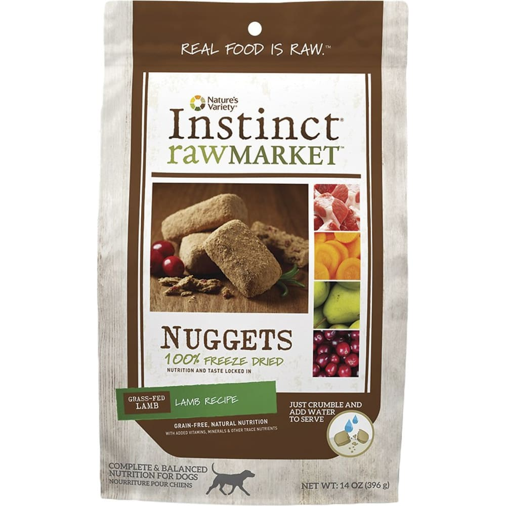 Nature's Variety - Instinct RawMarket Lamb Recipe Grain-Free Freeze-Dried Dog Food, 14oz