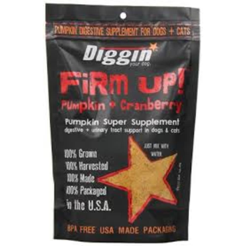 Diggin Your Dog - Firm Up! Pumpkin & Cranberry Digestive & Urinary Tract Support Grain-Free Pet Supplement, 4oz