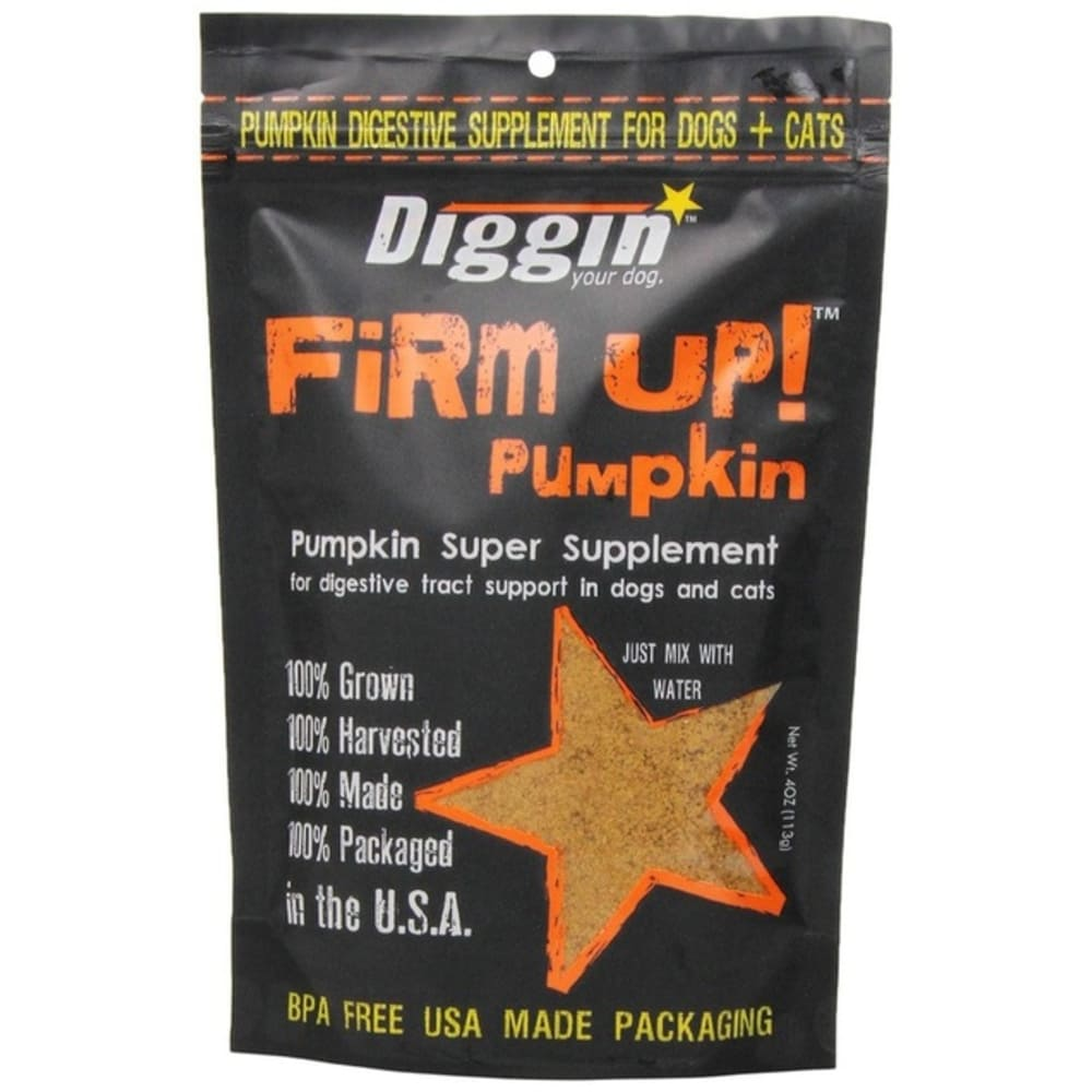 Diggin Your Dog - Firm Up! Pumpkin Digestive Tract Support Grain-Free Pet Supplement