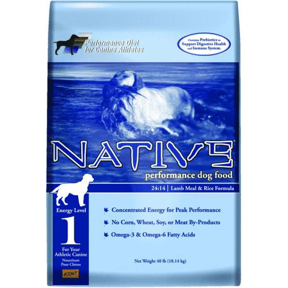 Native - Performance Diet Energy Level 1 Lamb Meal & Rice Formula Dry Dog Food, 40lb