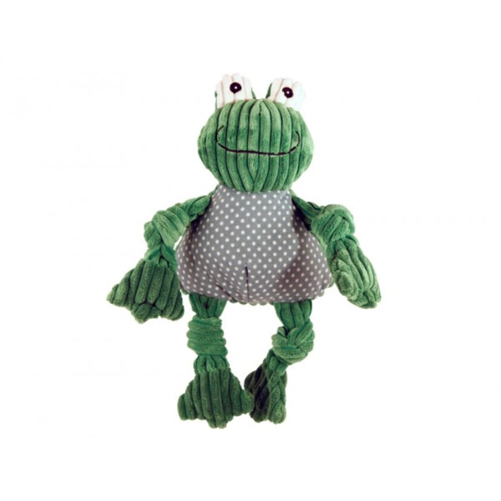HuggleHounds - Plush Corduroy Durable Knotties Frog Knottie