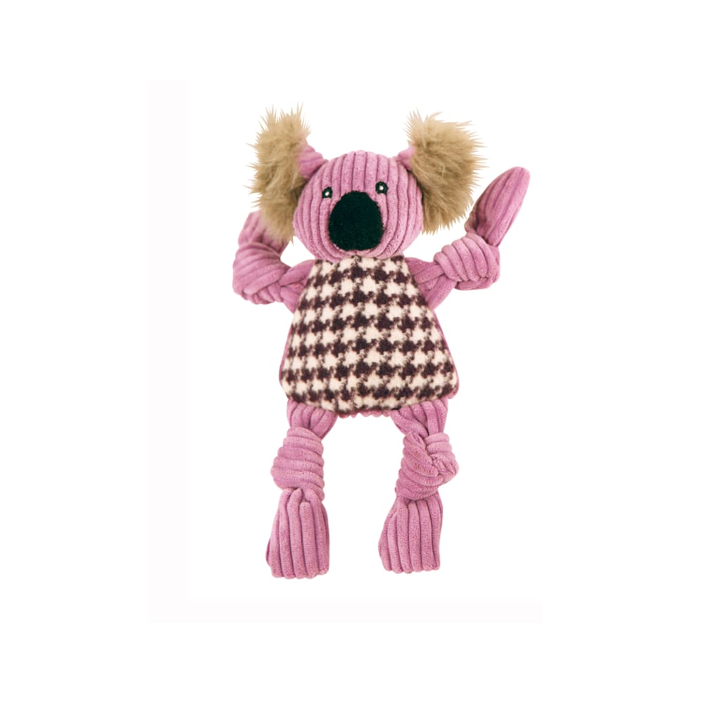 HuggleHounds - Plush Corduroy Durable Knotties Koala Bear Knottie